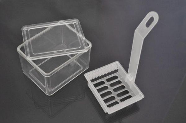 Штатив,рамка для окраски микропрепаратов на 20 предметных стекол 87х73х162, ПП, Италия (Aptaca)