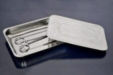 Лоток прямоугольный 200х150х25 мм,без крышки,из нержавеющей стали