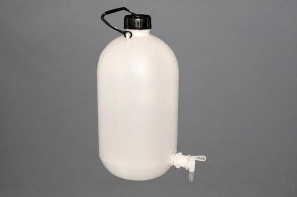 Бутыль Вульфа,с краном 3/4 дюйма,10 л,ПЭ,Италия,Aptaca