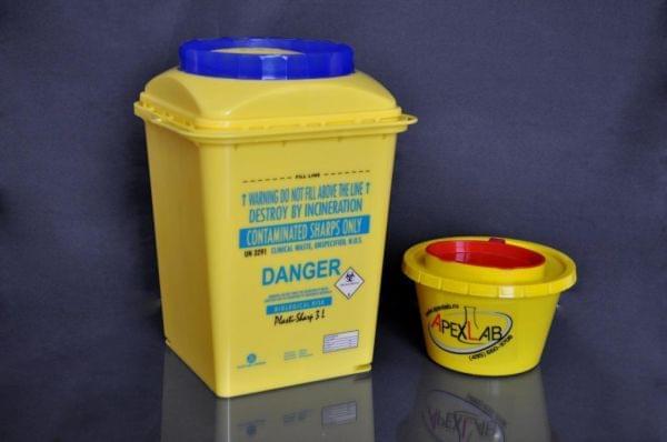 Контейнер для хранения,транспортировки и утилизации использованных биологических материалов и режущих изделий,10 л,упаковка 20 шт.