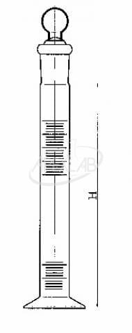 цилиндр мерный с пришлифованной пробкой